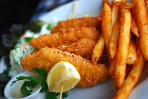 Photo of Fish and Chips at a Restaurant in Astoria, Oregon.